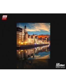Gdańsk DESIGN Obraz z oświetleniem LED kwadratowy