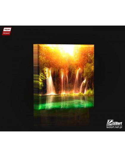Plitvice DESIGN Obraz z oświetleniem LED kwadratowy