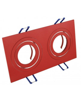 Ceiling downlight aluminium double red