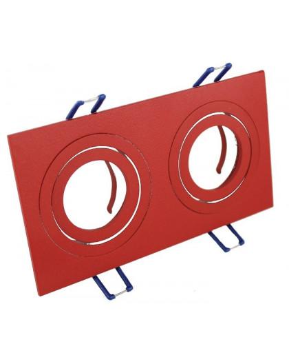Oprawa sufitowa aluminium podwójna ruchoma czerwona