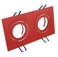 Ceiling downlight aluminium double red