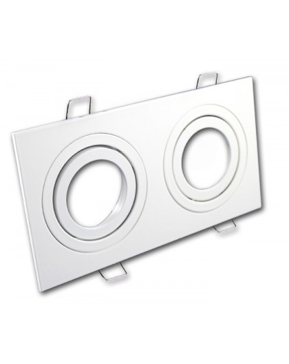 Oprawa sufitowa aluminium podwójna ruchoma biały mat
