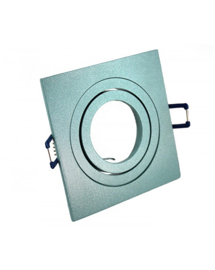Ceiling downlight aluminium square mint