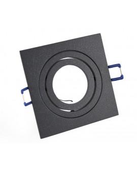 Ceiling downlight aluminium square graphite
