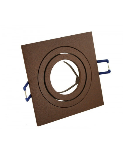 Ceiling downlight aluminium square rusty