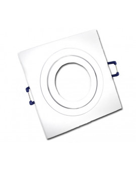 Ceiling downlight aluminium square white mat