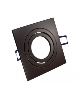 Ceiling downlight aluminium square brown chocolate