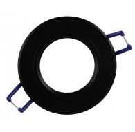 Ceiling downlight aluminium round black mat