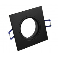 Ceiling downlight aluminium square black mat