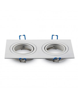 Ceiling downlight aluminium double white