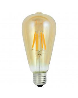 Filament ST64 E27 4W Dekoracyjna Żarówka LED Łezka Edisona
