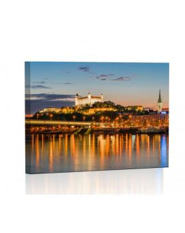 Bratysława nocą Obraz podświetlany LED