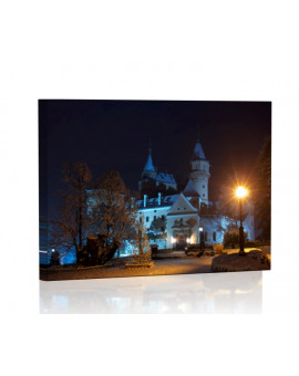 Castle in Bojnice at night Lamp backlit