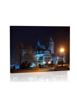 Zamek w Bojnicach nocą Obraz podświetlany LED
