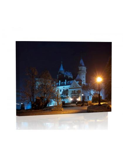 Castle in Bojnice at night Lamp backlit