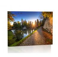 Bojnice o zachodzie słońca Obraz podświetlany LED