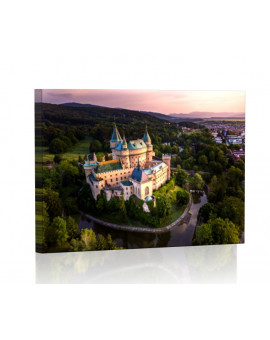 Fairytale castle in Bojnice Lamp backlit