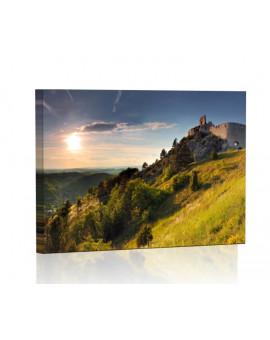 Ruiny zamku w Čachticach Obraz podświetlany LED