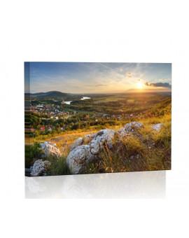 Zachód słońca z Zamku Devin Obraz podświetlany LED