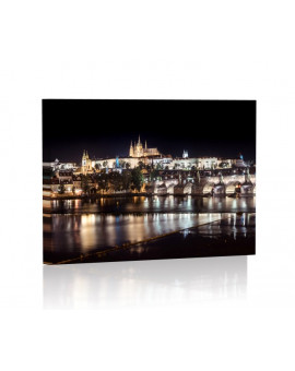 Prague by night Lamp backlit