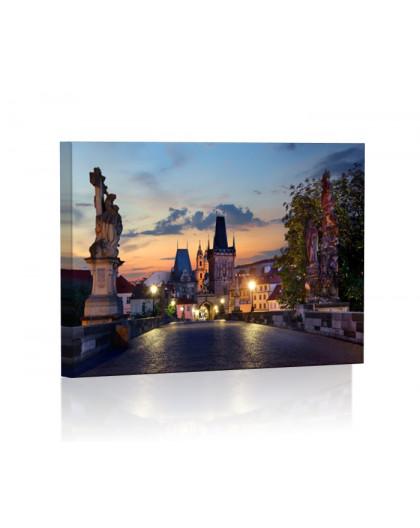 Most Karola nocą Obraz podświetlany LED