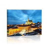 Brno nocą Obraz podświetlany LED