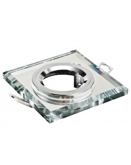 Ceiling downlight glass square silver