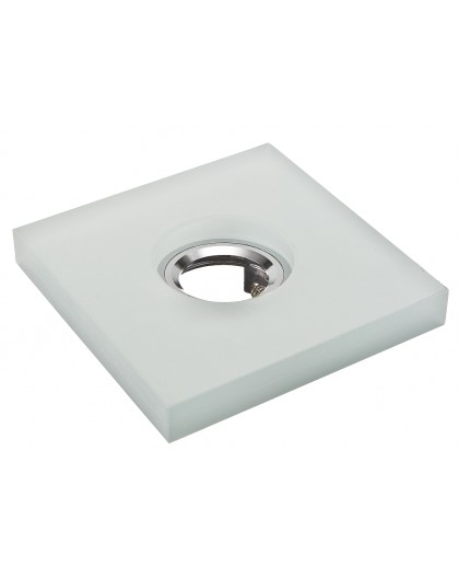 Ceiling downlight glass square frost white