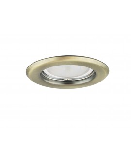 Ceiling downlight steel round brass still