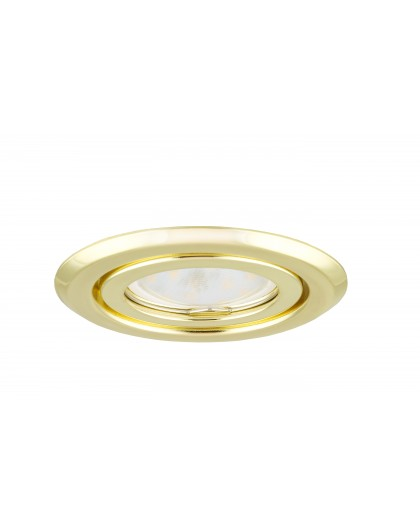 Ceiling downlight steel round gold regular