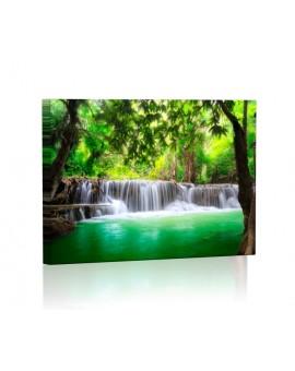 Wodospady w Tajlandii DESIGN Obraz z oświetleniem LED prostokątny