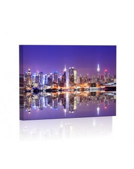 Manhattan Skyline DESIGN Obraz z oświetleniem LED prostokątny