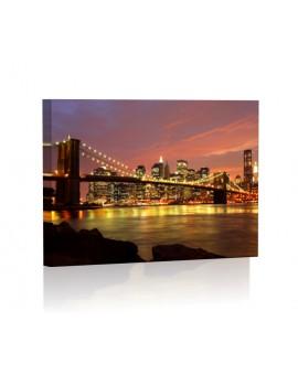Brooklyn Brigde Obraz z oświetleniem LED prostokątny