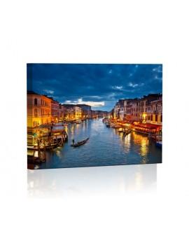 Wenecja Obraz z oświetleniem LED prostokąt