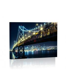 San Fransisco DESIGN Obraz z oświetleniem LED prostokątny