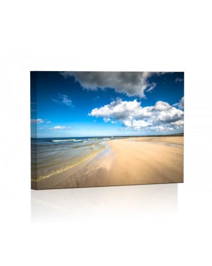 Bałtycka plaża DESIGN Obraz z oświetleniem LED prostokątny