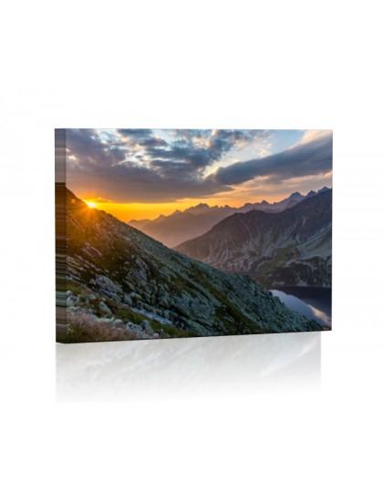 Dolina Pięciu Stawów DESIGN Obraz z oświetleniem LED kwadratowy