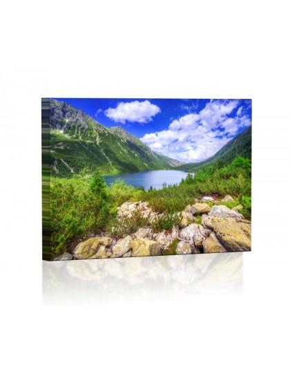 Morskie Oko w Tatrach DESIGN Obraz z oświetleniem LED prostokątny