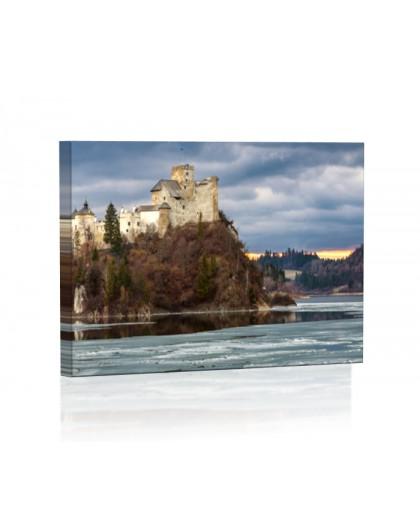 Jezioro Czorsztyńskie DESIGN Obraz z oświetleniem LED kwadratowy