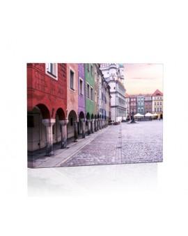 Poznań DESIGN Obraz z oświetleniem LED prostokątny