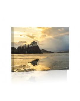 Zamek w Niedzicy DESIGN Obraz z oświetleniem LED prostokątny
