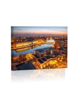 Wrocław nocą DESIGN Obraz z oświetleniem LED prostokątny
