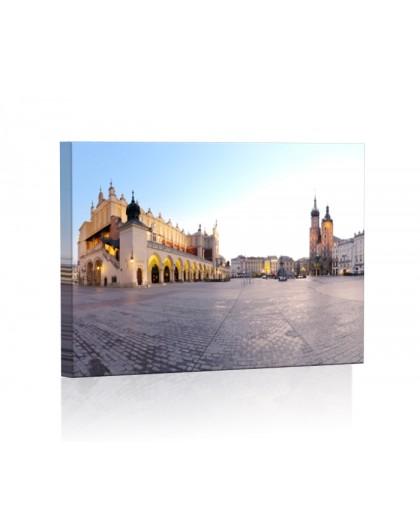 Rynek Główny w Krakowie DESIGN Obraz z oświetleniem LED prostokątny