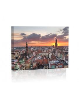 Panorama Wrocławia DESIGN Obraz z oświetleniem LED prostokątny