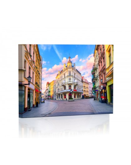 Ulice Torunia DESIGN Obraz z oświetleniem LED prostokątny