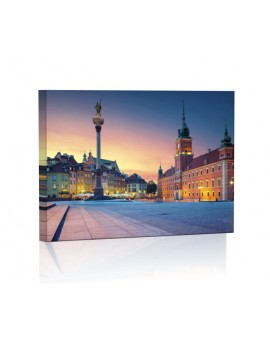 Stare miasto Warszawa DESIGN Obraz z oświetleniem LED prostokątny