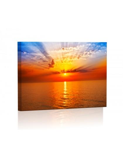 Wschód słońca DESIGN Obraz z oświetleniem LED prostokątny