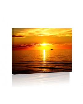 Zachód słońca II DESIGN Obraz z oświetleniem LED prostokątny