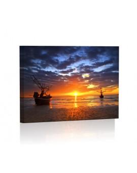 Zachód słońca DESIGN Obraz z oświetleniem LED prostokątny