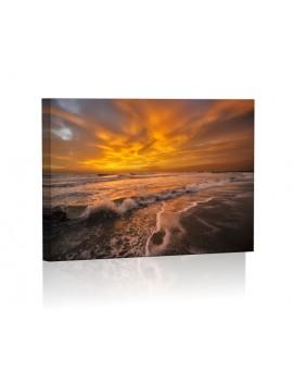 Morze DESIGN Obraz z oświetleniem LED prostokątny